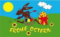 Frohe Ostern - Oster Flagge / Fahne / Flag 90cmx150cm