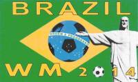 Fussball WM 2014 in Brasilien Fahne / Flagge 90cmx150cm
