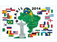 Fussball WM 2014 in Brasilien Fan Fahne / Flagge 90cmx150cm