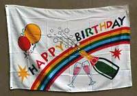 Geburtstag - Happy Birthday - Flagge / Fahne 90cmx150cm